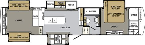 cardinal fifth wheel floor plans forest river cardinal floor plans fifth wheel forest rv