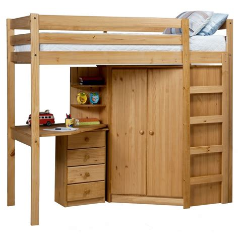 rimini high sleeper with corner wardrobe next day