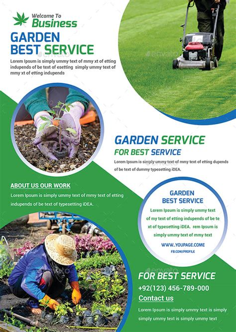 Flyer Templates Gardening | 16 cool garden service flyer templates desiznworld