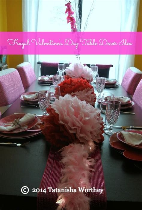 valentines day table decor frugal s day table decor ideas
