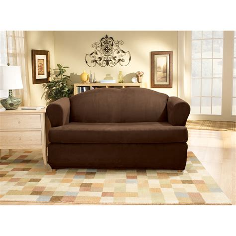 individual 3 piece t cushion sofa slipcover stretch suede individual 3 piece t cushion sofa slipcover