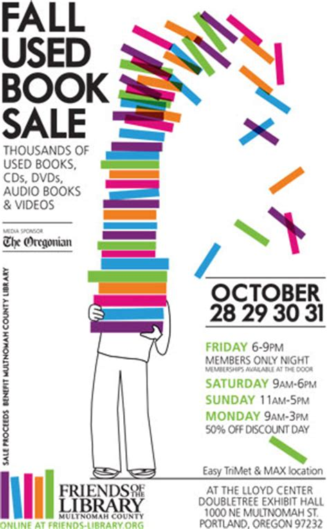 book layout sles friends of the library fall used book sale october 28 31