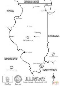 coloring page map of illinois map of illinois to pages pictures to pin on pinterest