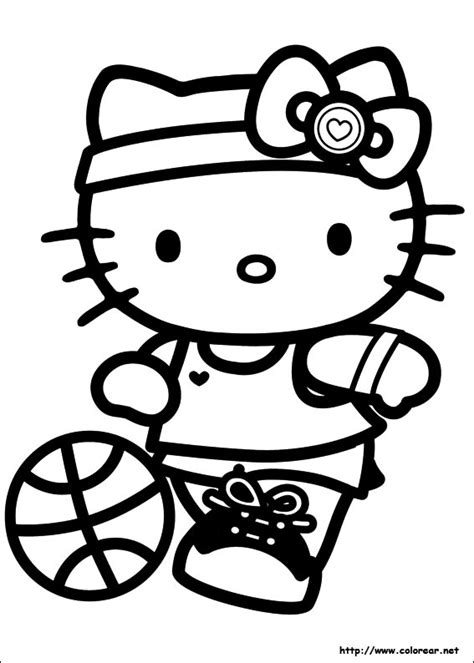 Hello Kitty Soccer Coloring Pages | free coloring pages of colour a football kit
