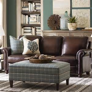 Leather Livingroom Furniture by Hamilton Sofa Leather Living Room Bassett Furniture