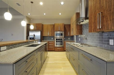 Modern Painted Kitchen Cabinets Bamboo Paint Mix Contemporary Kitchen By Bamboo Crew Custom Cabinets And Countertops