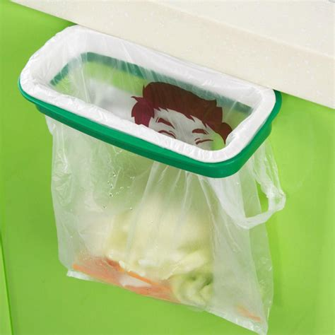 Cabinet Door Mounted Trash Bag Holder Home Solutions Cabinet Door Trash Bag Holder