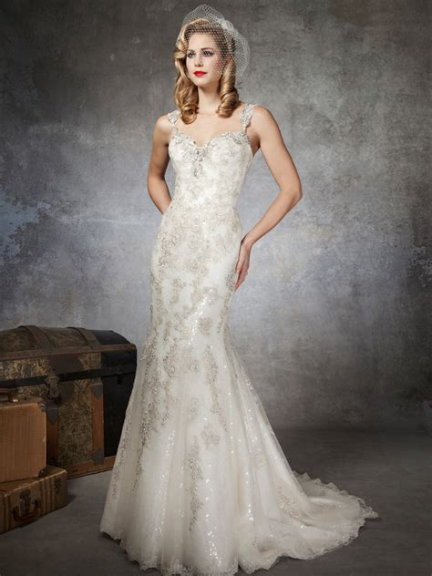 Beaded Wedding Gown by Fully Beaded Wedding Dresses For Luxurious Bridal Attire