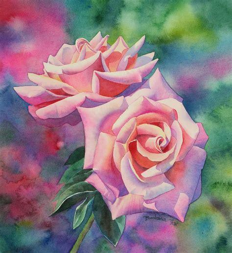 Tutorial Watercolor Art | watercolor rose painting tutorial step by step