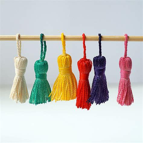 Halloween Craft Preschool - colorful tassels fun family crafts