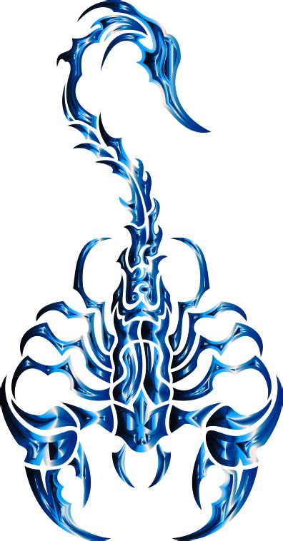 clipart sleek tribal scorpion cobalt