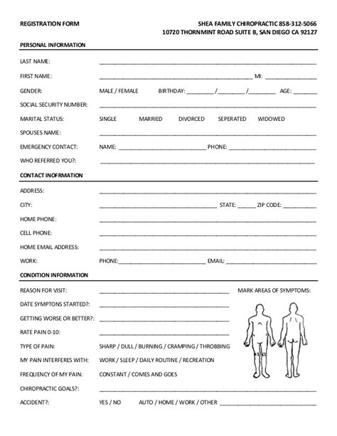 New Patient Forms New Patient Paperwork Template