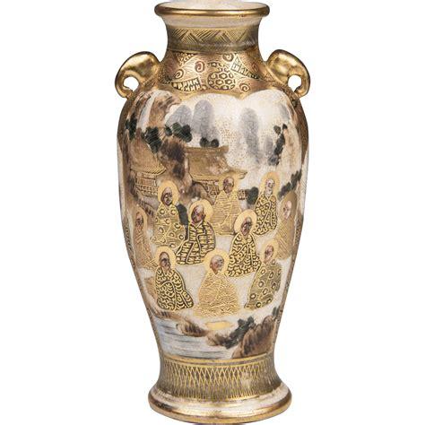 Satsuma Vase Signatures by Miniature Meiji Period Signed Japanese Satsuma Vase From