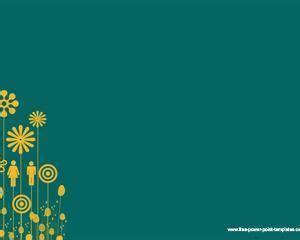 plantilla powerpoint de burbujas y fondo amarillo