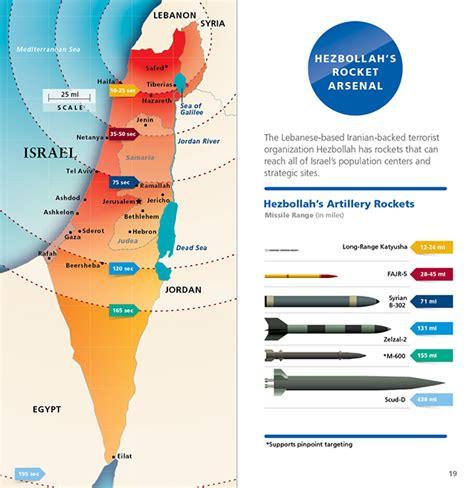 arsenal israel hezbollah rocket arsenal map 1 israeli border security