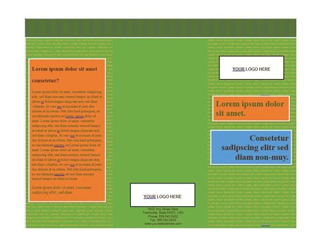 free brochure templates microsoft word 31 free brochure templates ms word and pdf free