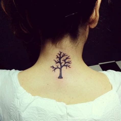 simple tree tattoo designs 28 incredible small neck tattoos for women styleoholic