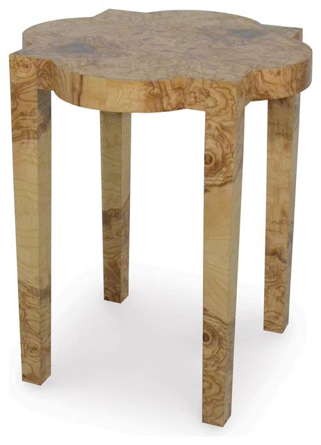 lawrie olive ash burl drum table traditional side palecek olive burl geo side table transitional side
