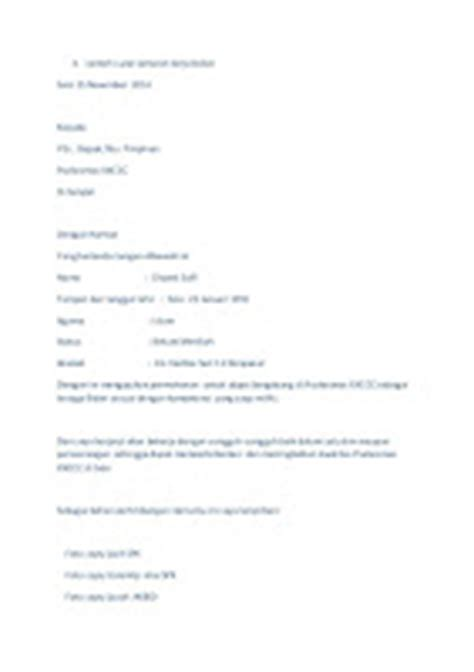 5 contoh surat lamaran kerja bidan ben