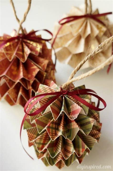 How To Make Easy Paper Ornaments - diy paper ornaments diy inspired
