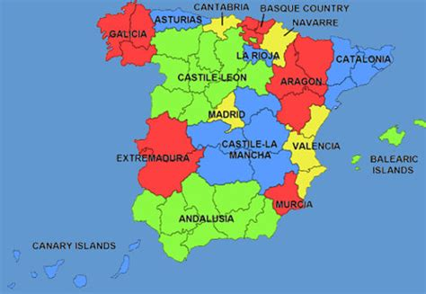 map of spain and regions maps of spain cities provinces
