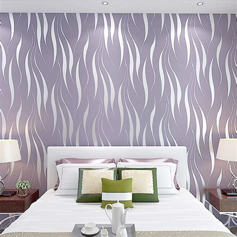 10m 3d crescent wave stripes embossed non woven flocking wallpaper modern home wall decor alex nld
