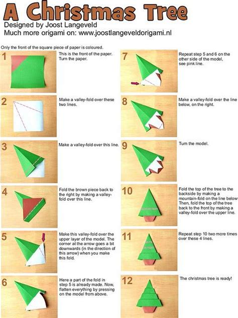 How To Make A Origami Tree - photo tutorial for how to make an origami tree