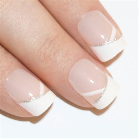 nail by false nails by bling white glitter manicure