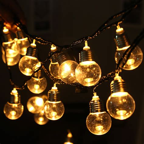 220v 20 Led Light Bulb Ball String Fairy Lights For 20 Bulb String Lights