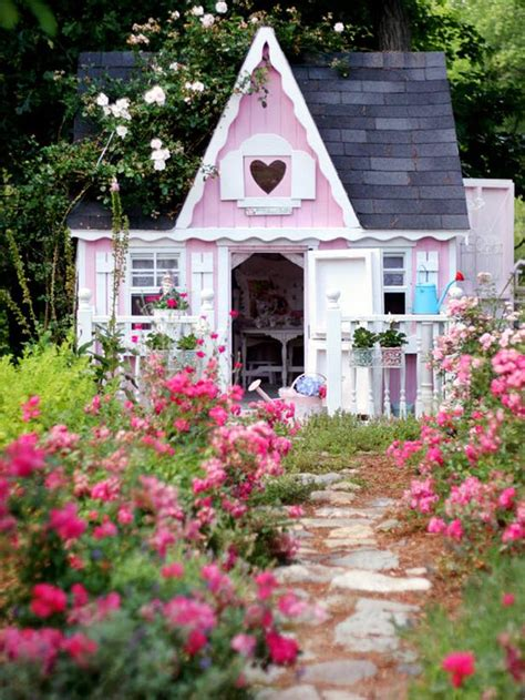 garden cottage playhouse shabby chic decorating ideas for porches and gardens