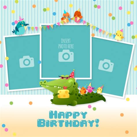 picture frame birth day card template child frame vectors photos and psd files free