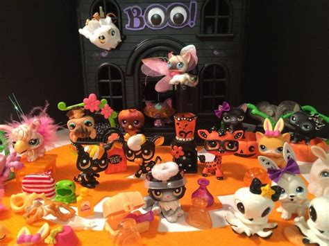 lps haunted house littlest pet shop custom haunted house w lps pets accessories 336 99