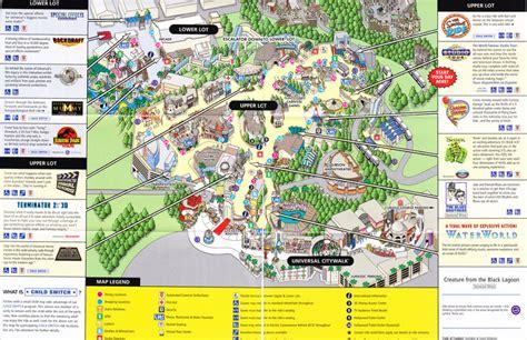 universal map universal studios theme park map rangere