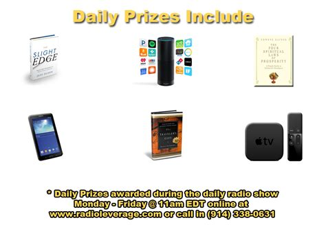 Daily Prize Giveaways - slight edge contest daily drawing winners traffic authority blog