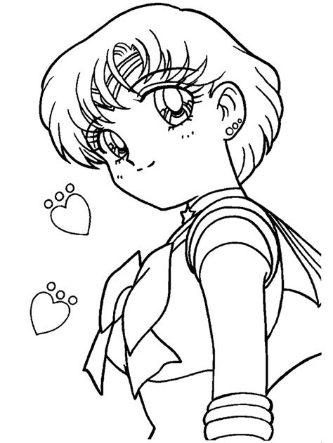 Coloring Page Sailor Mercury Coloring Pages