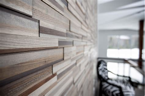 wood panel accent wall add a warm contemporary look to any room with easy diy