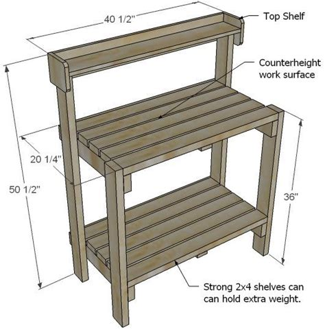 garden potting bench designs white build a simple potting bench free and easy