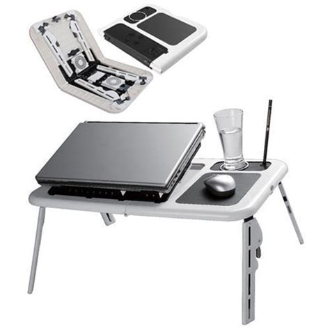 Laptop Desk With Cooling Fan Items Laptop Desk Foldable Table E Table Bed With Usb Cooling Fans Stand Was Sold For
