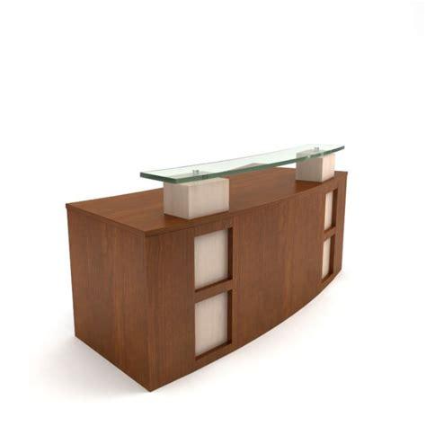 Modern Receptionist Desk Modern Wooden Receptionist Desk 3d Model Cgtrader