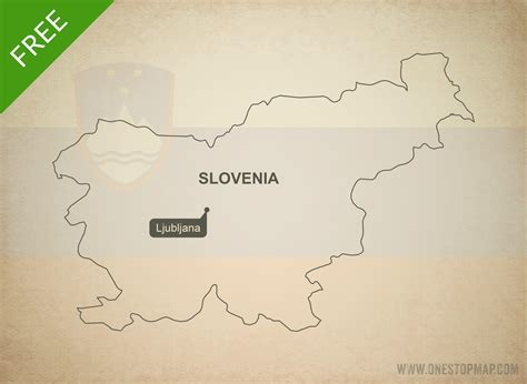 free vector map free vector map of slovenia outline one stop map