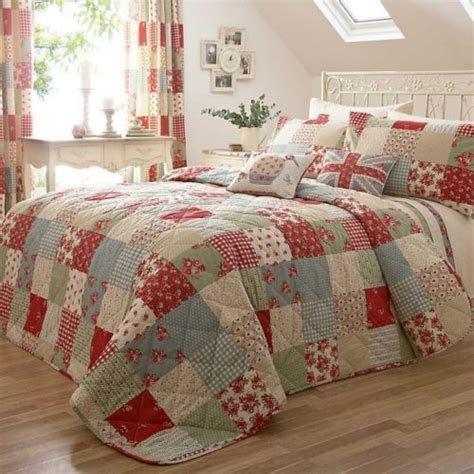 Patchwork Comforters Throws And Quilts - patchwork floral bedspread quilt throw taupe dot