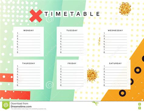 design calendar schedule sunday calendar schedule blank page royalty free stock
