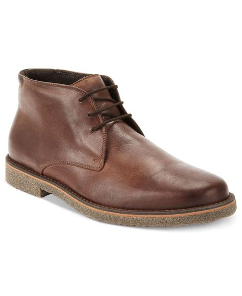 mens alfani boots alfani s lancer leather chukka boots only at macy s