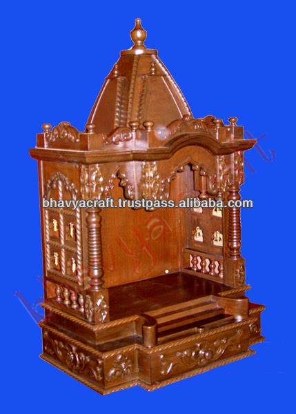 Marble Temple Home Decoration by Wooden Temple Altar Mandir Hindu God Statue Indian Temple