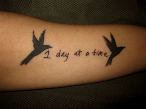 tattoo recovery time one day at a time quotes for addiction quotesgram