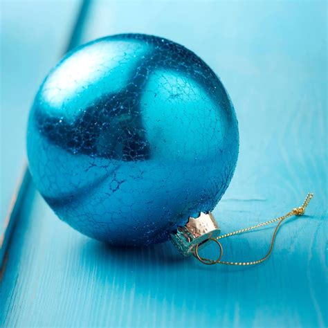turquoise crackle glass bauble by the christmas home