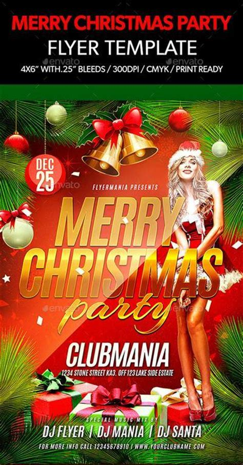 Graphicriver Merry Christmas Party Flyer Template Downloads 187 Downturk Download Fresh Hidden Merry Flyer Template