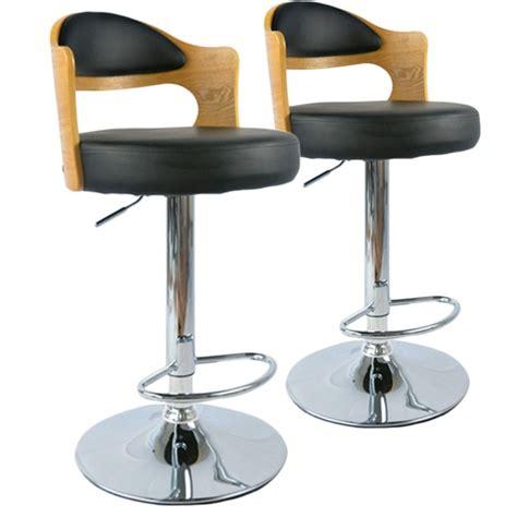 chaise de bar vintage chaises de bar vintage ch 234 ne clair noir lot de 2 pas