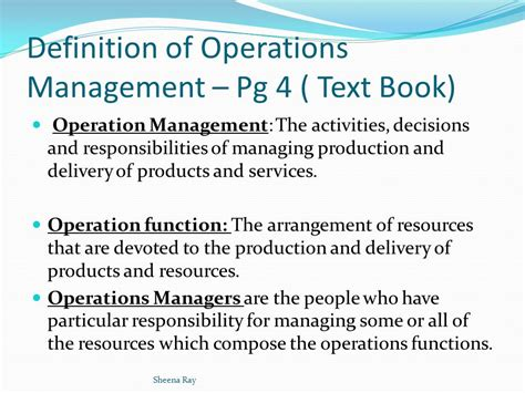 operation management chapter 1 operations management ppt video online download