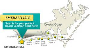 emerald island carolina map emerald isle vacation rentals real estate emerald isle